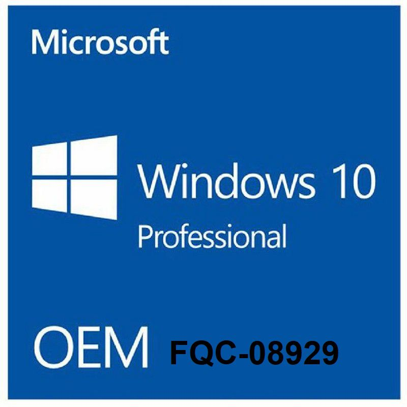 Windows 10 Professional O&M 64 Bit Win 10 Pro Key FQC - 08929
