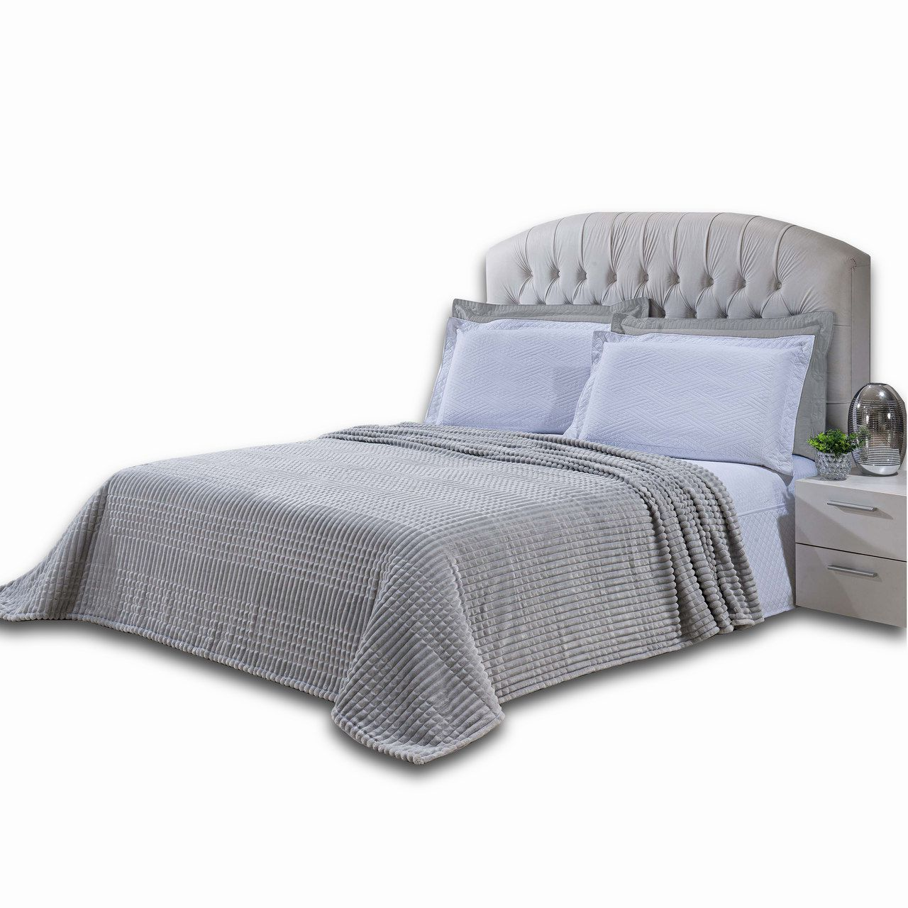 Cobertor Manta Flannel Casal Padrão Macio Alto Relevo Microfibra