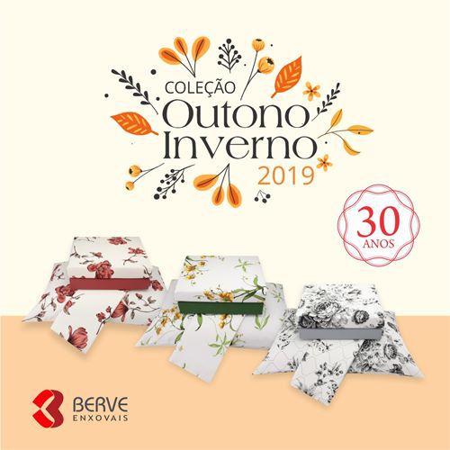 Jogo de Cama Queen 04 peças 100% Algodão 180 Fios - Inverno 2019