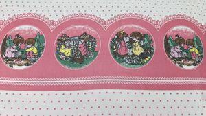 Jogo de Lençol Solteiro Algodão Misto Rosa 3 peças Meninas Crianças