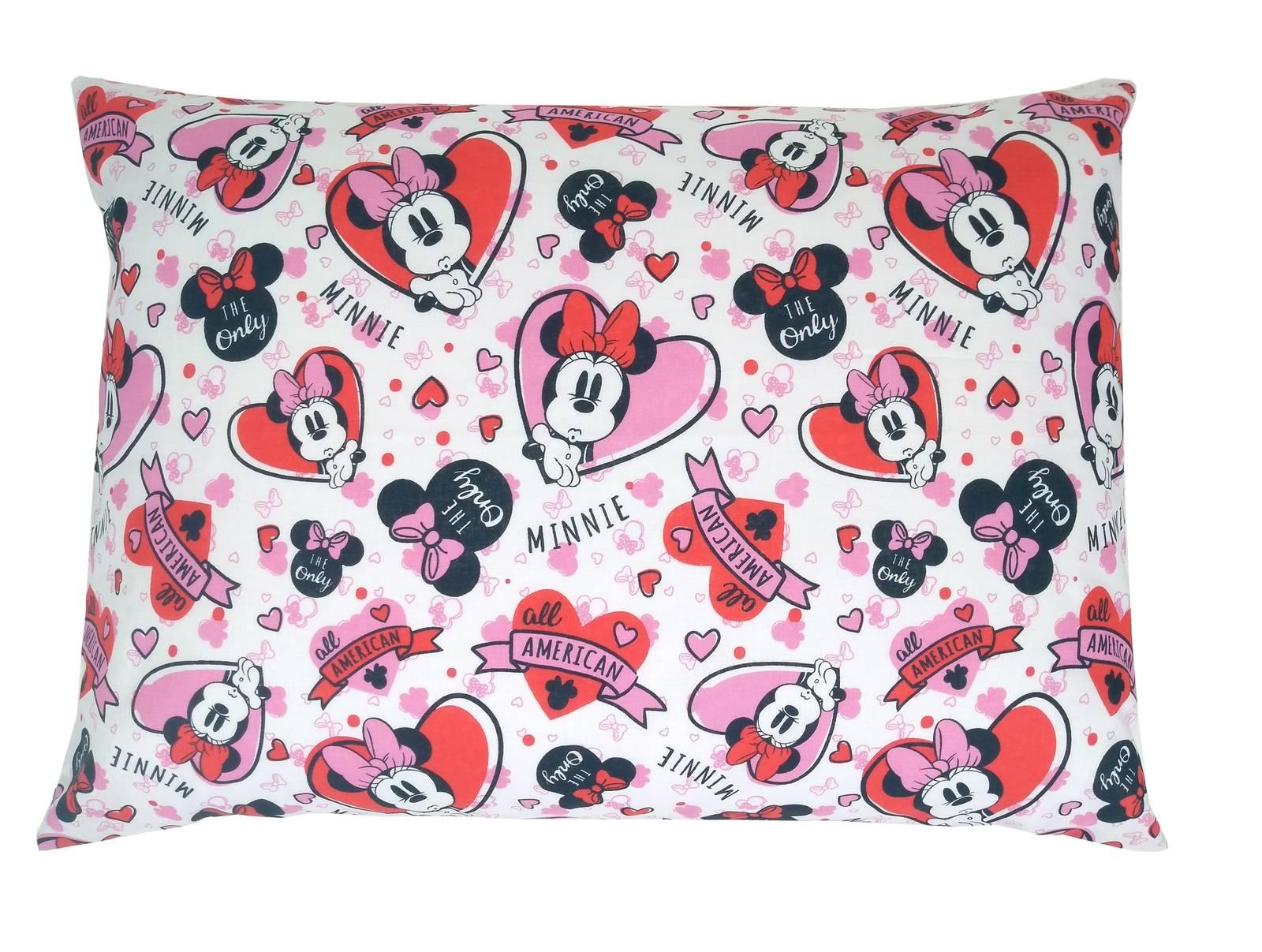 Jogo de Lençol Solteiro Infantil 100% Algodão Disney Menina Rosa 3 Peças