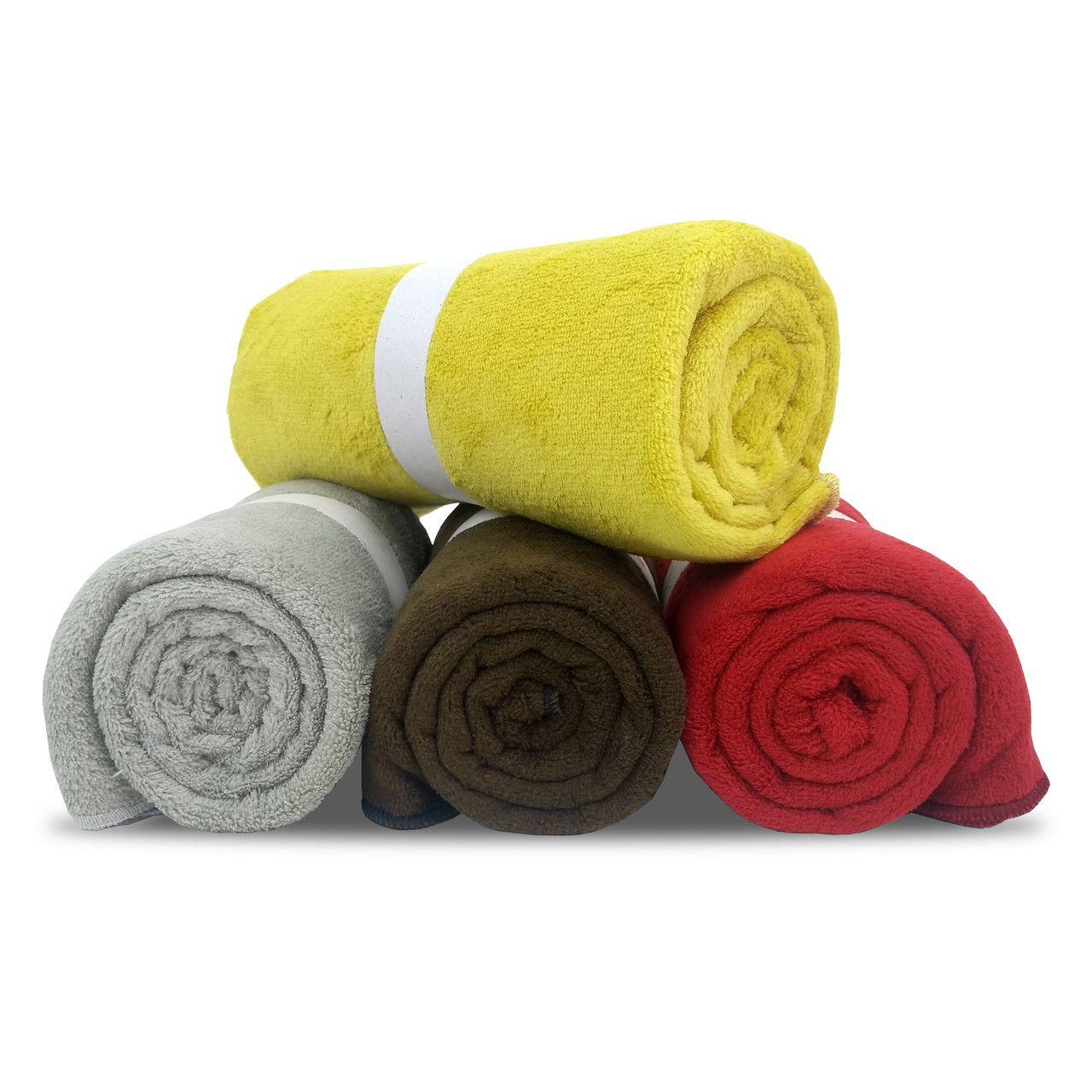 Kit 4 Manta Pet Fleece Microfibra Cobertor Cães Gato 1,10 x 0,90m - Berve Enxovais