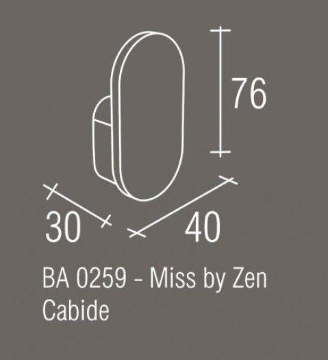 Cabide Zamac/Inox Zen MISS