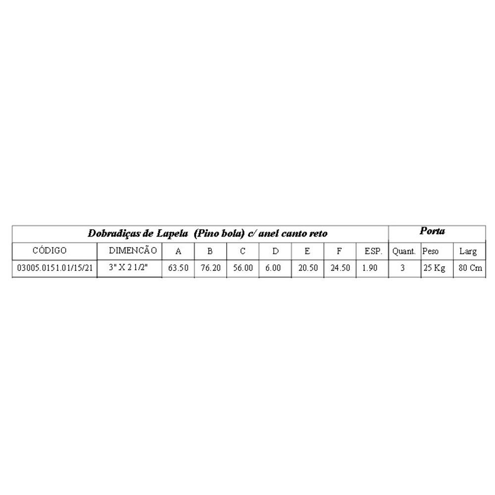 Dobradiça-Lapela com Rolamento-Aço-Soprano-151