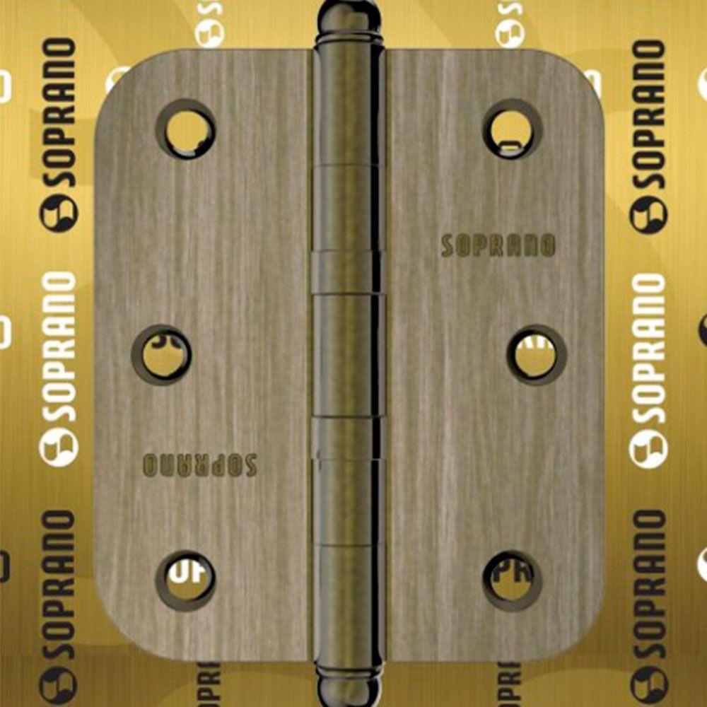 Dobradiça-Lapela com Rolamento e Raio- Aço -Soprano