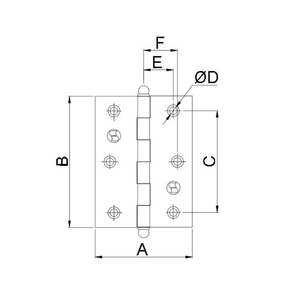 Dobradiça-Lapela sem Anel-Aço-Soprano