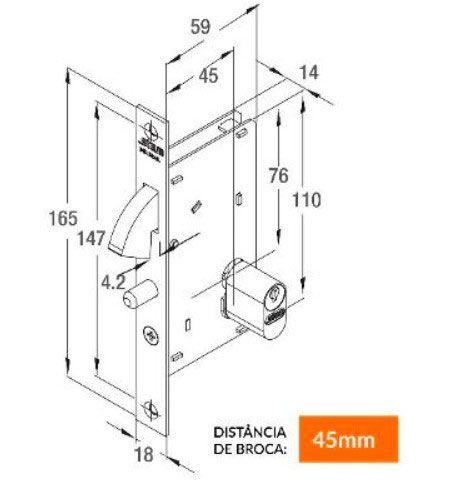 Fechadura Correr-Bico de Papagaio-Stam-950