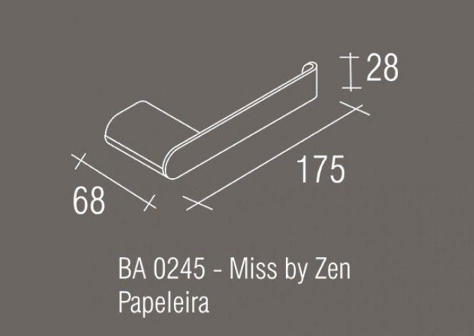 Papeleira Simples Zamac/Inox Zen MISS
