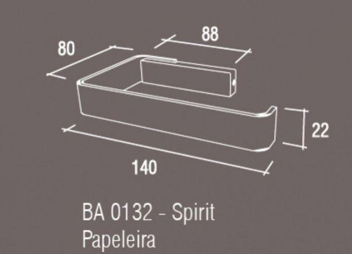 Papeleira-Simples-Zamac/Inox-Zen-SPIRIT