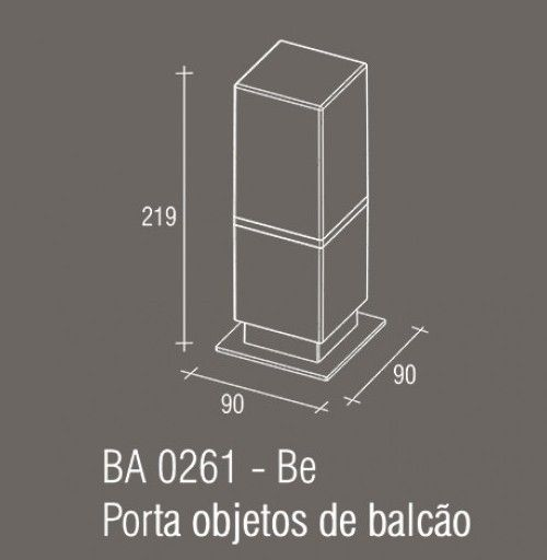 Porta Objetos Bancada Zamac/Acrílico Zen Be