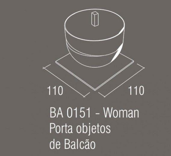 Porta Objetos Bancada Zamac/Acrílico Zen Woman