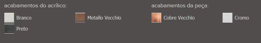 Porta Objetos Fixo Zamac/Acrílico Zen Be