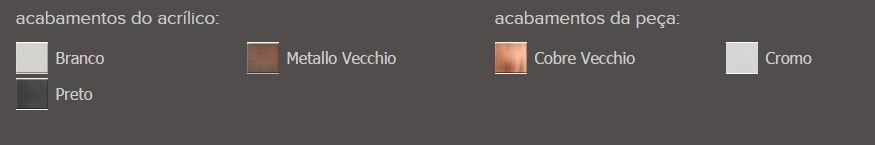 Porta Objetos Fixo Zamac/Acrílico Zen SPIRIT