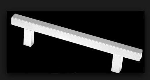 Puxador de Gaveta Alumínio Sobrepor Metalnox A1001 96 mm cromado