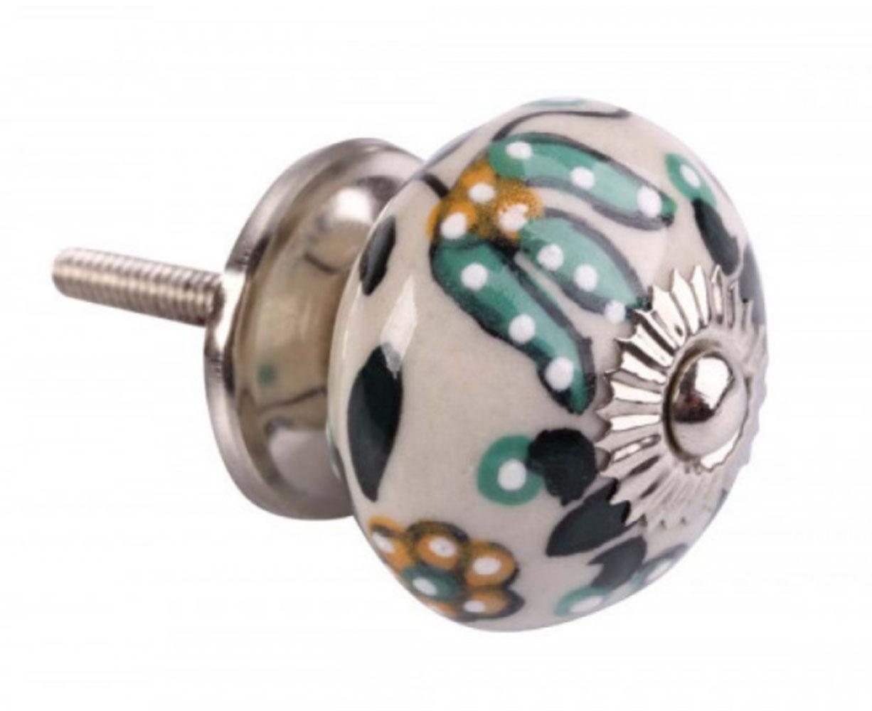 Puxador de Gaveta-Cerâmica-Decorado-Sobrepor-Vênus-3077