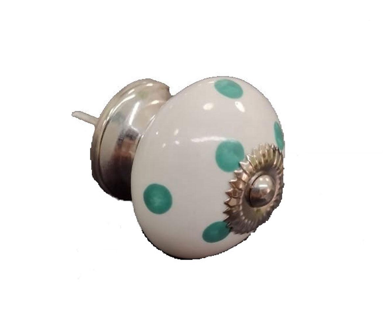 Puxador de Gaveta-Cerâmica-Decorado-Sobrepor-Vênus