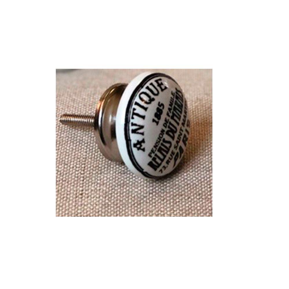 Puxador de Gaveta-Cerâmica-Sobrepor-Antique-Vênus-61107-DC244