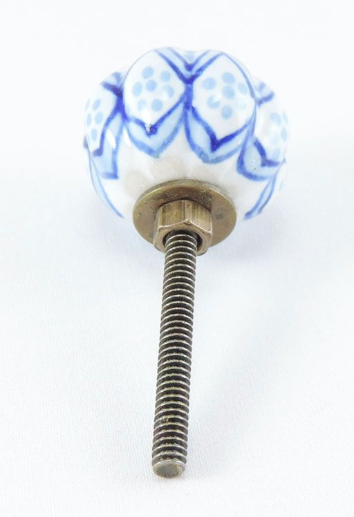 Puxador de Gaveta-Cerâmica-Sobrepor-Azul -Vênus-1698