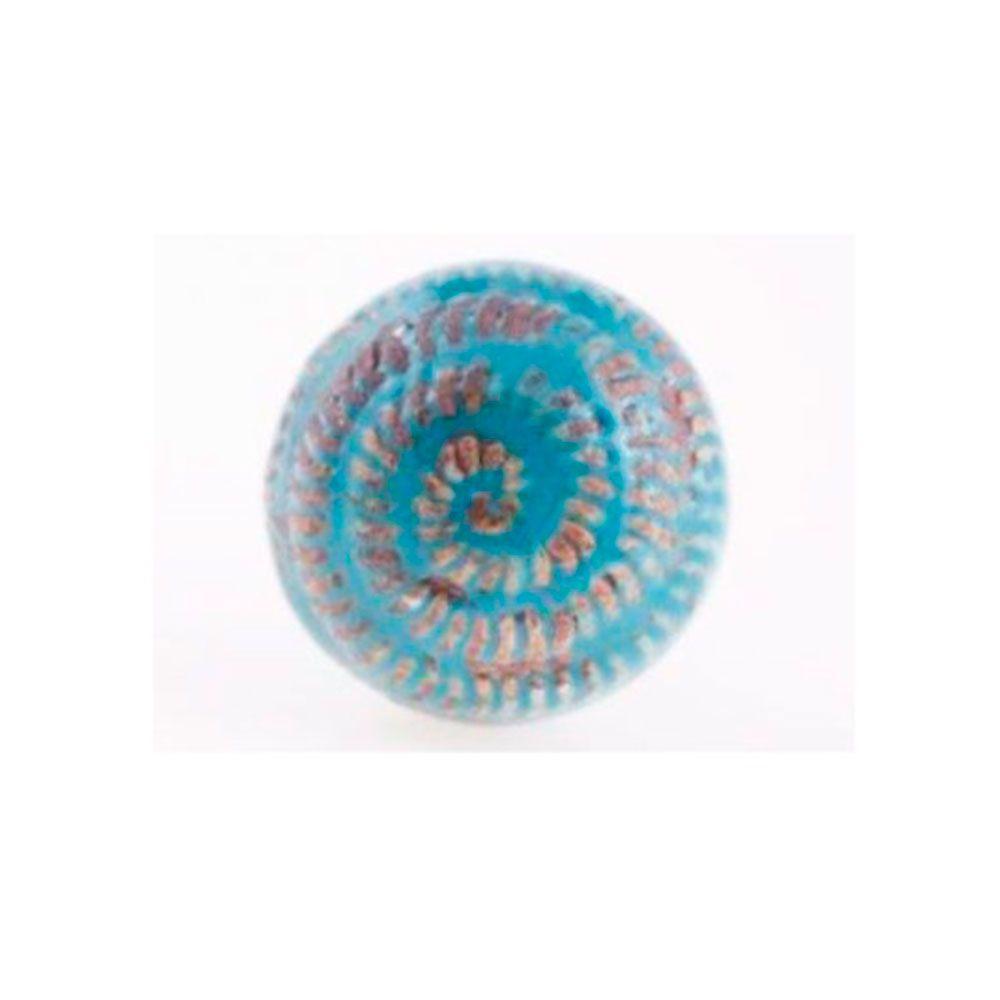 Puxador de Gaveta-Cerâmica-Sobrepor-Azul-Vênus-3156