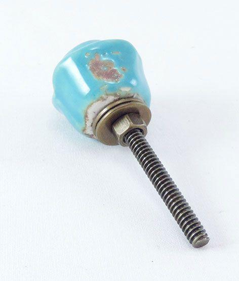 Puxador de Gaveta-Cerâmica-Sobrepor-Azul-Vênus-3157