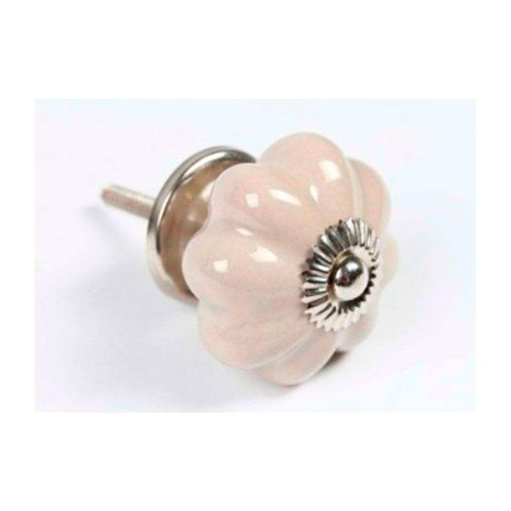 Puxador de Gaveta-Cerâmica -Sobrepor-Bege-Vênus-3083