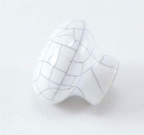 Puxador de Gaveta Cerâmica Sobrepor Branco BSKF A038