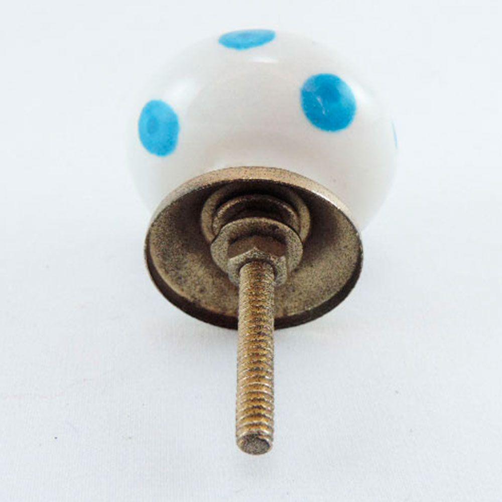 Puxador de Gaveta-Cerâmica-Sobrepor-Branco-Vênus-3075