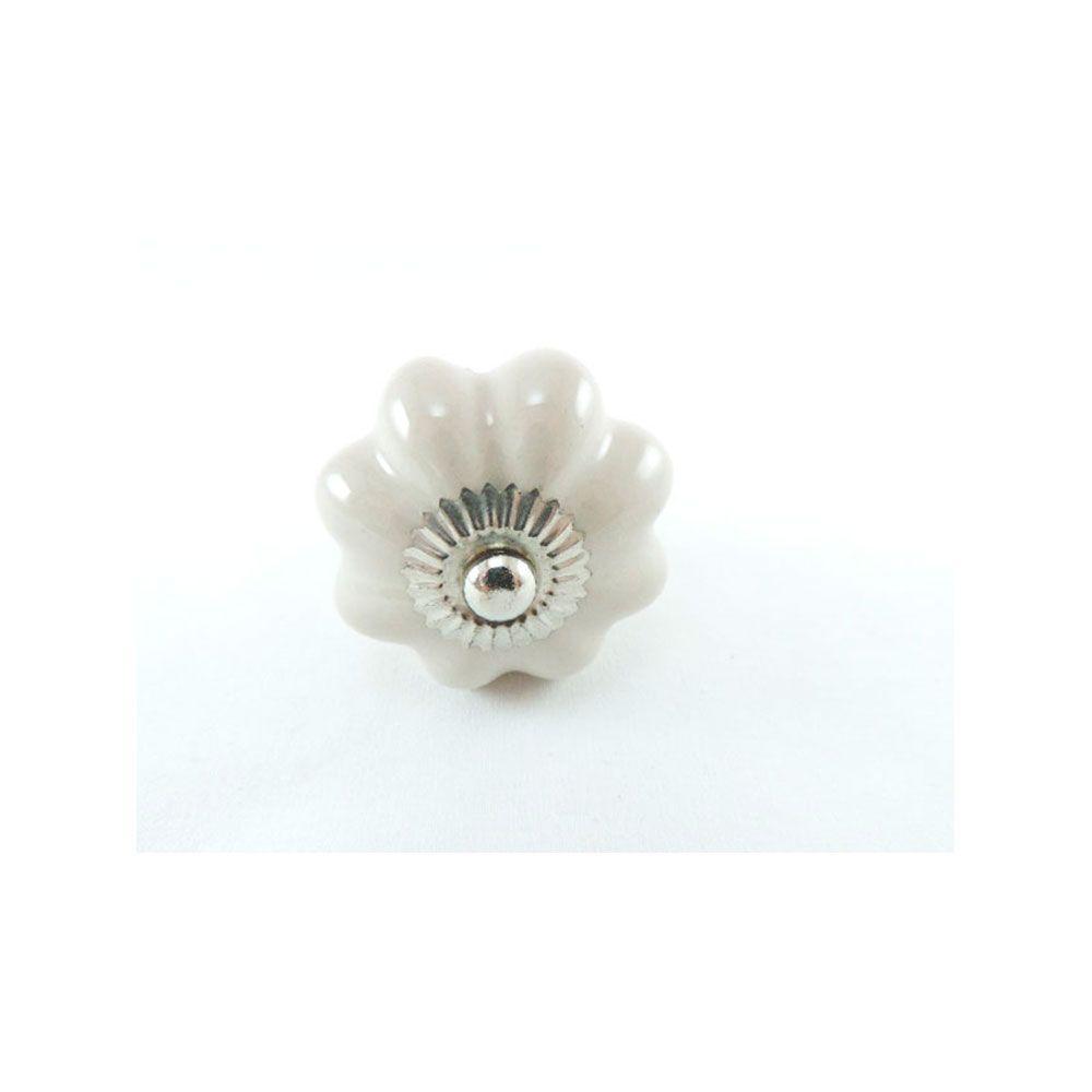 Puxador de Gaveta -Cerâmica-Sobrepor-Branco-Vênus-38341
