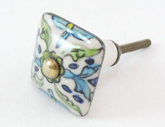 Puxador de Gaveta-Cerâmica-Sobrepor-Colorido-Vênus-1702