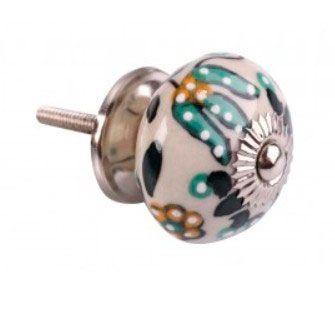 Puxador de Gaveta-Cerâmica-Sobrepor-Colorido-Vênus-3077