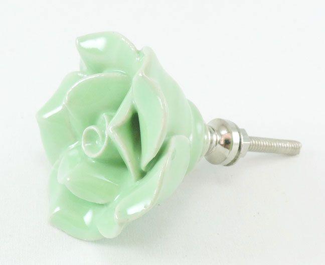 Puxador de Gaveta-Cerâmica-Sobrepor-Verde-Vênus-3104