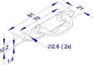 Puxador de Gaveta-Colonial-Sobrepor-Antique-Wind PZ 09