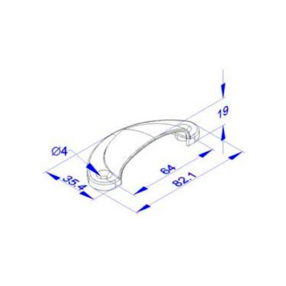 Puxador de Gaveta-Concha-Colonial-Sobrepor-Antique-Wind-PZ 57