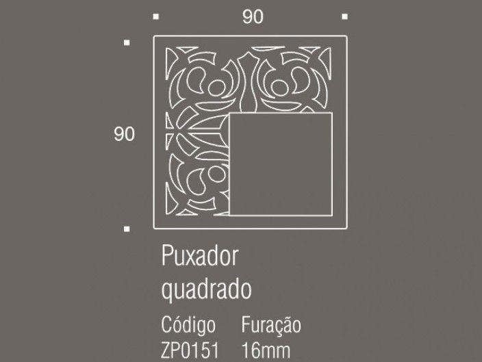 Puxador de Gaveta-Inox-Sobrepor-Zen-Belle Époque-Quadrado