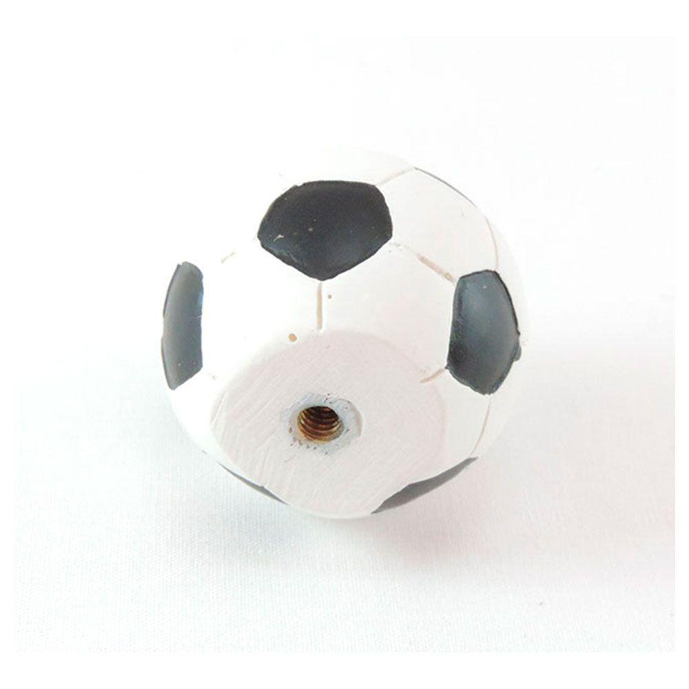 Puxador de Gaveta-Sobrepor-Resina-BSKF-Bola Futebol