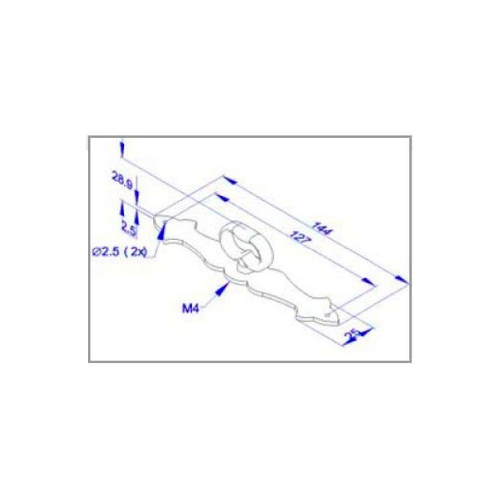 Puxador de Gaveta-Zamac-Sobrepor-Wind-PZ 61