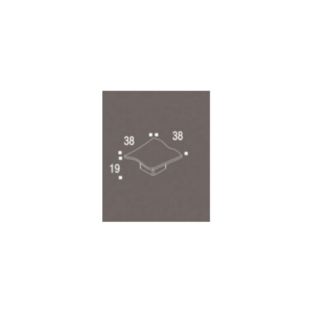 Puxador de Gaveta-Zamac-Sobrepor-Zen-Acqua