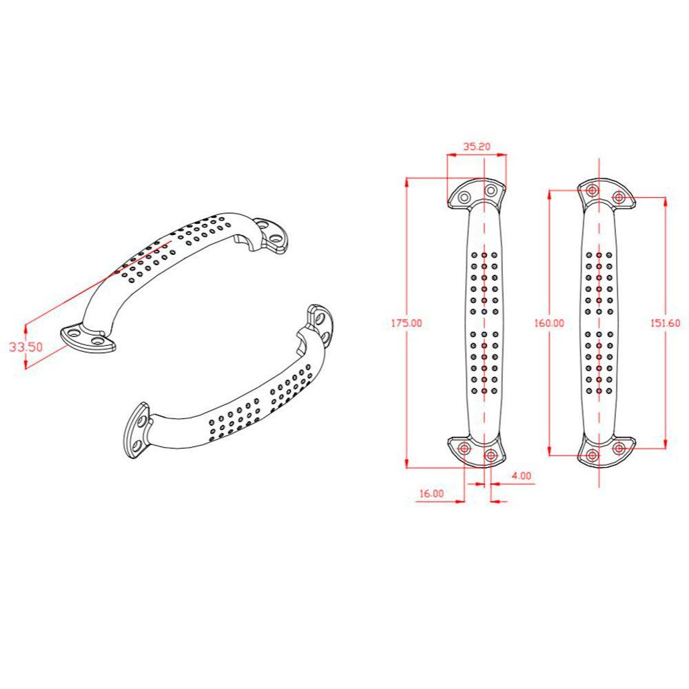 Puxador de Porta-Alumíno-Sobrepor-SOPRANO-Auster