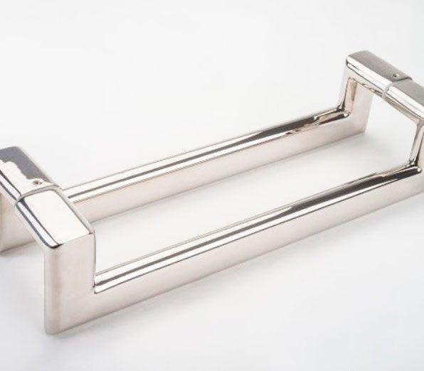 Puxador de Porta Inox Sobrepor Metalnox Evidenza 400 mm inox polido