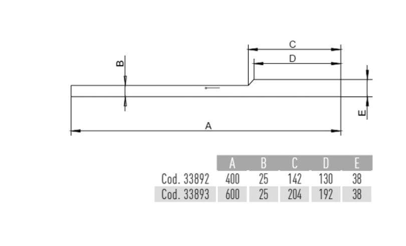 Puxador de Porta Inox Sobrepor METALNOX Reale 400 mm polido
