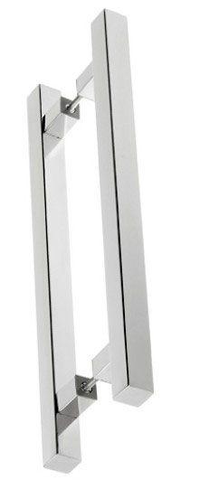 Puxador de Porta-Inox-Sobrepor-STAM-Quadrado