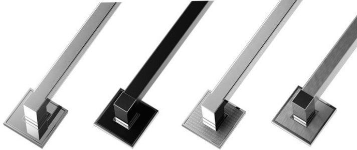 Puxador de Porta Inox Sobrepor ZEN Ritz 500 mm inox polido