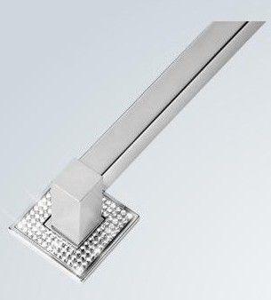 Puxador de Porta Inox Sobrepor ZEN Ritz Diamond