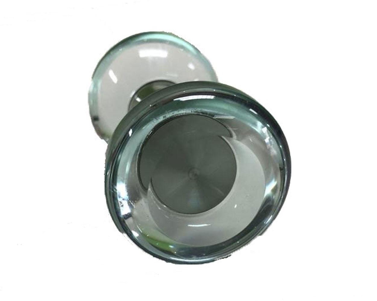 Puxador de Porta-Sobrepor-Vidro-Vênus