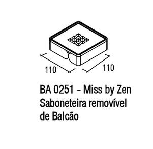 Saboneteira de Balcão Zamac/Acrílico Zen MISS