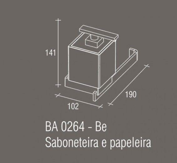 Saboneteira e Papeleira Zamac/Acrílico Zen Be