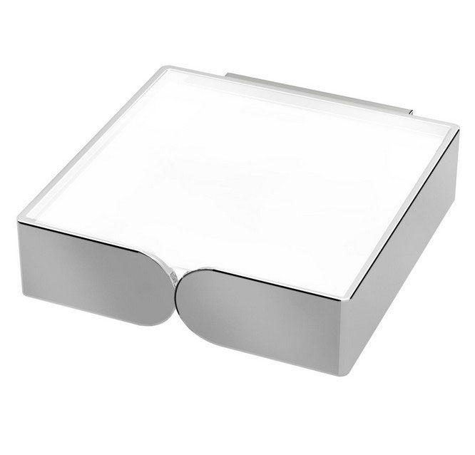 Saboneteira Fixa Inox/Zamac/Acrílico Zen MISS