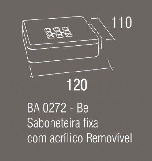 Saboneteira Fixa Zamac Acrilico Zen Be