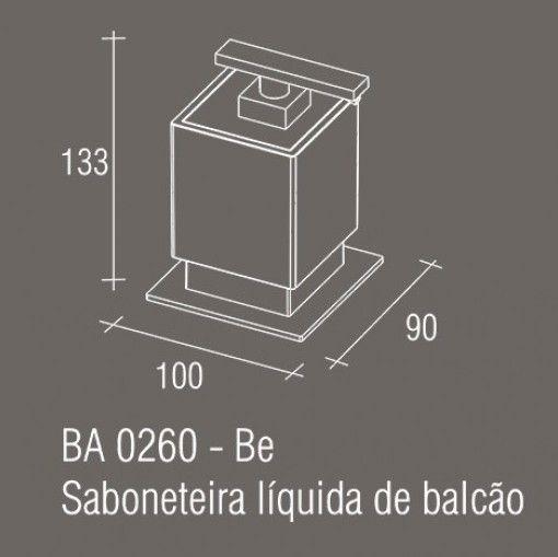 Saboneteira Líquida de balcão Zamac/Acrílico ZEN Be