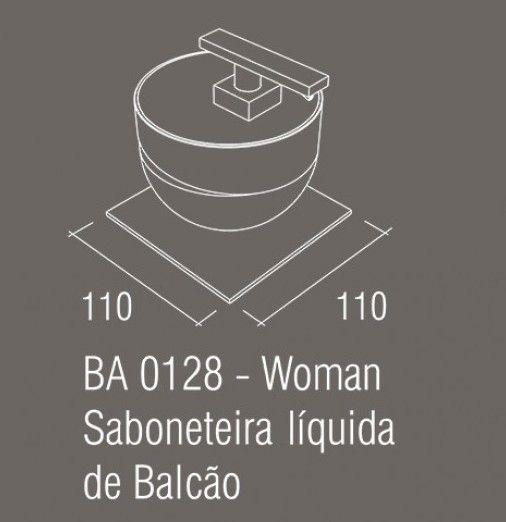 Saboneteira Líquida de balcão Zamac/Acrílico ZEN WOMAN